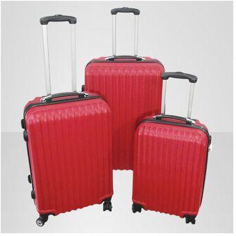 set de maletas genericas rgidasrojo