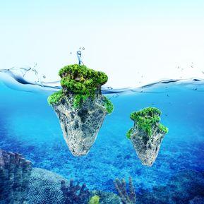 decoracion acuario pecera acuarios musgo artificial suspende vuelo rock aquatic ornamento paisaje pequeo tamao