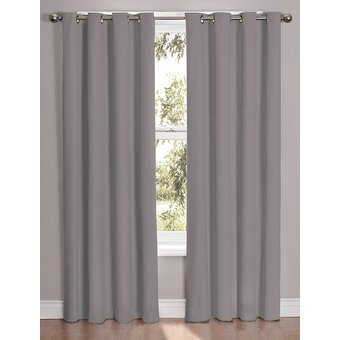 Compra set de cortinas decorativas golden selene plata for Argollas con pinzas para cortinas