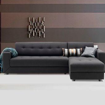 Compra mueble de sala seccional dinamarca color gris for Muebles de sala en l modernos