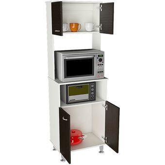 Compra mueble de cocina tuhome kitchen 54 blanco wengue for Muebles de cocina online
