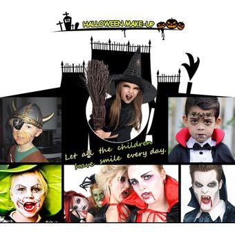festnight de halloween maquillaje cara kit de pintura para nios adultos agradable a la piel del