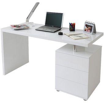 escritorio moderno con archivador lacado ref calix lxpxa