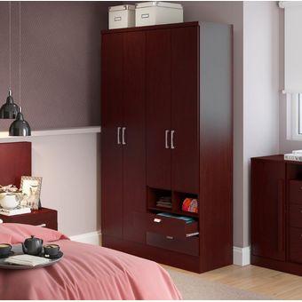 Compra Ropero Closet Bertolini 597 4 Puertas 2 Cajones