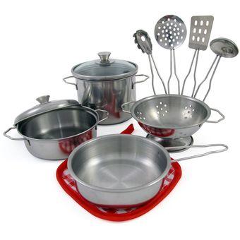 compra set utensilios cocina trastes juego juguetes