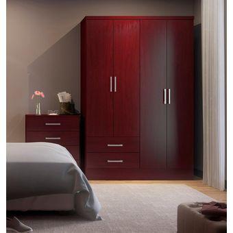 Compra Ropero Closet Bertolini 584 4 Puertas 2 Cajones