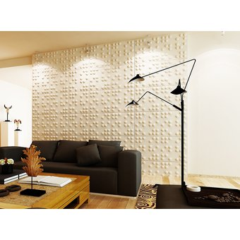 panel decorativo de paredes 3d 50cm x 50cm star - Panel Decorativo Pared