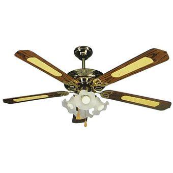 Compra ventilador de techo macilux 52 39 39 madera online - Ventiladores de techo antiguos ...