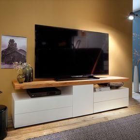 mesa de television moderna con tapa en t