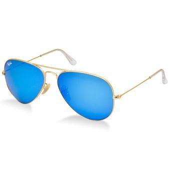 ray ban aviator azul dorado
