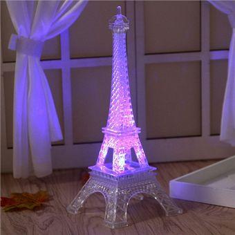 lmpara led colorido torre eiffel luz de noche pars estilo decoracin moda escritorio dormitorio acrlico luz
