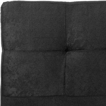 cabecero entero doble tapizado en microfibra x x negro
