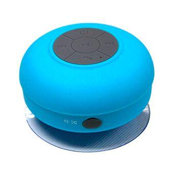 Parlante Portatil Bluetooth Para La Ducha Resistente Al Agua Celeste