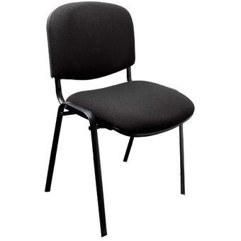 Compra silla de visita edar en tela negra online linio for Silla para visitas oficina