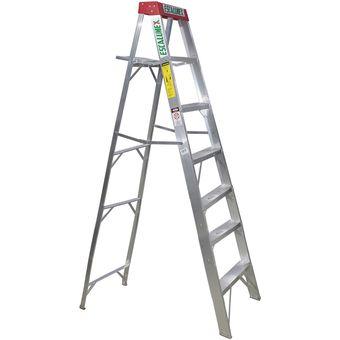Compra escalera aluminio escalumex 6 pelda os stl 7 roja for Escaleras 7 escalones