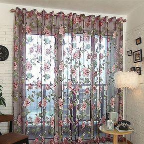 yucheer cortinas decorativas de tul flor
