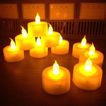 Sin Llama Sin Humo LED Tealight Luz De La Vela Seguridad Home Decoración De La Barra