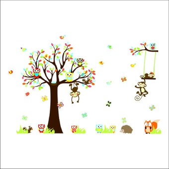 vinilo decorativo para pared infantil rbol y