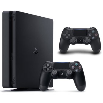 compra consola playstation 4 slim 1tb 2 controles negro online linio colombia. Black Bedroom Furniture Sets. Home Design Ideas