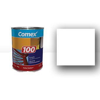 Compra pintura esmalte de 1 gal n 100 mate blanco online for Pintura de interiores precios