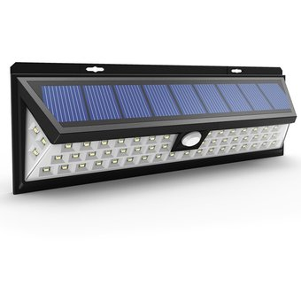 Compra foco lampara led solar sensor movimiento 54 led - Focos led solares ...