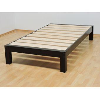 Compra base para cama individual tradicional desarmable for Camas en madera economicas