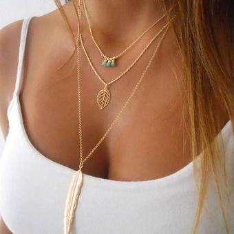 d9d1c038174e Compra Nioworld Las Mujeres Collar De Cadena Colgante Irregular-oro online