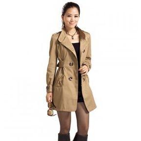 gabardina chaqueta larga yucheer de cort