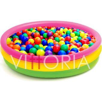 Compra piscina 100 pelotas intex 86cm pl stico agua juego for Piscina de bolas para bebes