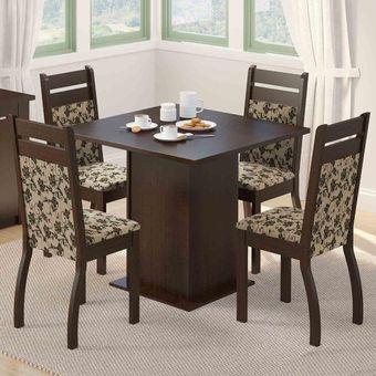 Compra keia juego de comedor paramena con 4 sillas marr n envio gratis online linio per - Comedores modernos en ikea ...