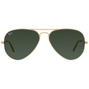 Gafas De Sol Ray Ban Aviator 3026 L2846 Marco Dorado / Lente Verde 62mm Italinas