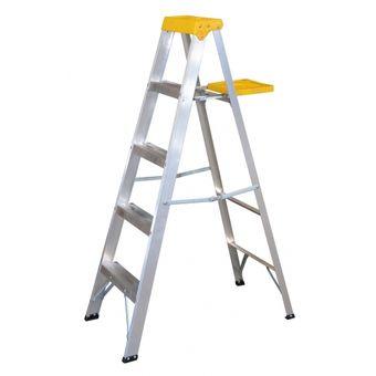 Compra escalera de aluminio tipo tijera 4 pelda os for Escaleras 10 peldanos de tijera