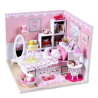 Compra pixnor juguetes ni as diy casa de mu ecas de madera - Decoracion los angeles ...