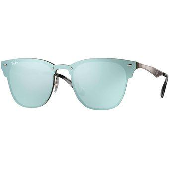lentes de sol ray ban espejados azules