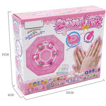 manicura conjunto de juguetes artesanales de bricolaje juguetes para nios chica