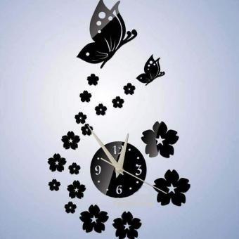 reloj de pared diseo mariposas dnegro