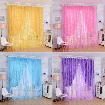 magideal rosa patrn de tul puerta ventana divisor de cortina cortina cenefa gasa prpura