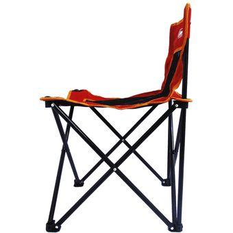 silla sencilla go roja para campismo o playa coleman