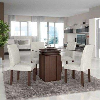 Compra juego de comedor p l jantar 4 sillas ultracuero for Juego de comedor 4 sillas moderno