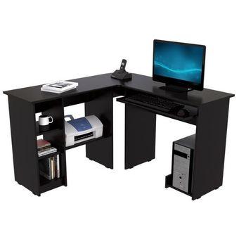 Compra escritorio en l maderkit color wengue bk31521 for Muebles de oficina modernos bogota
