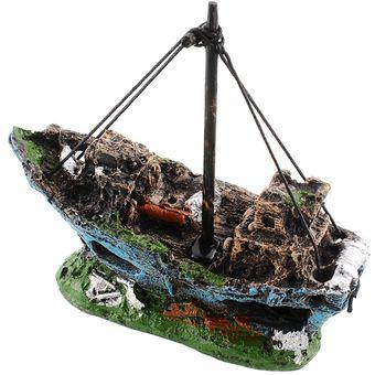 acuario adornos ruina barco hundido barco pirata pescado decoracin paisajismo submarino