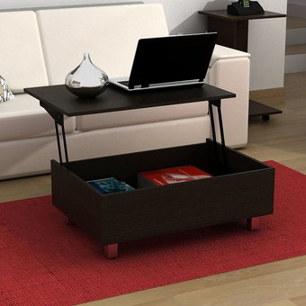 Compra mesa de centro gambia chocolate online linio m xico for Muebles minimalistas online