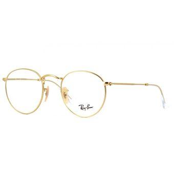lentes ray ban dorados