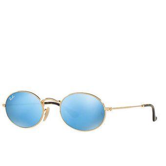 gafas ray ban azul espejo