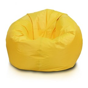 puff redondo grande amarillo ecocuero do