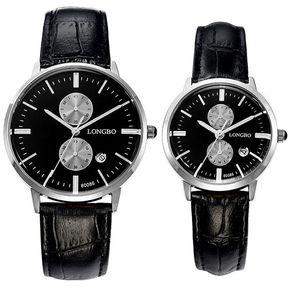 1238e00b0521 pareja reloj paquete de shuua clsico hombres mujeres analoga relojes  correa. relojes fossil fs cuero cronogra original nuevos en caja