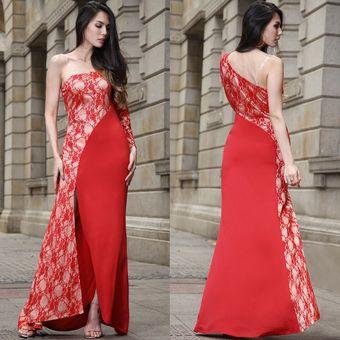 Vestidos de encaje rojo para fiestas