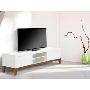 mesa de television diseo escandinavo en madera lacada ref clemount xx