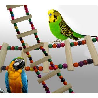 louiwill loros pjaro del juguete flexible escalera periquitos juguetes escaleras