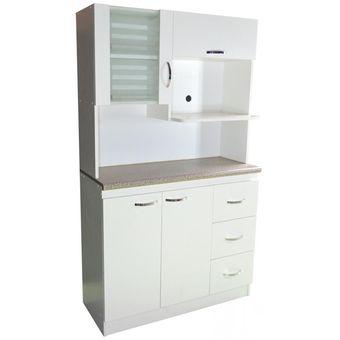 Compra repostero 1 0 para microondas amueble blanco Muebles de cocina para microondas